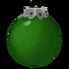 Einfarbig grüne Kugel