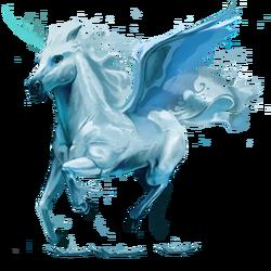 5. Element, Pegasus, Wasser