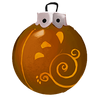 Kupferfarbene Spiralkugel