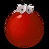 Einfarbig rote Kugel
