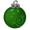 Grüne Spiralkugel
