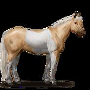 Paint Horse Palomino mit Tobiano-Scheckung