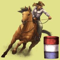 Barrel Racing Bild