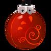 Rote Spiralkugel