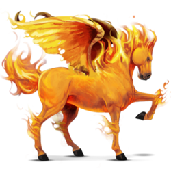 5. Element, Pegasus, Feuer
