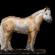 Paint Horse Palomino mit Overo-Scheckung
