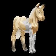 Paint Horse Palomino mit Tobiano-Scheckung Fohlen