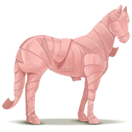 April Kalender Pflaster Pferd