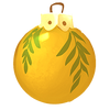 Gelbe Weihnachtsbaumkugel