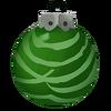 Grün gestreifte Kugel
