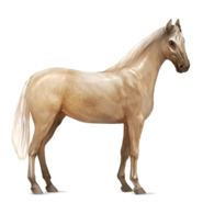 Massives Sportpferd Palomino Altes Design