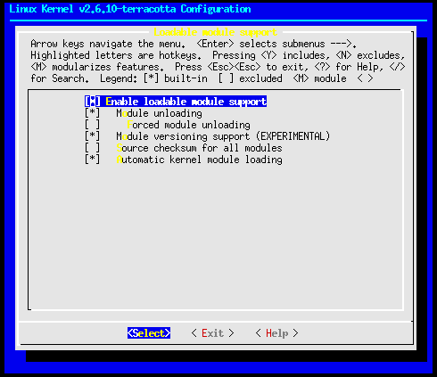 Linux-2.6.10-menuconfig-loadable-module-support