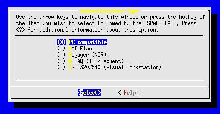 Linux-2.6.10-menuconfig-processor-type-feture--Subachatecture