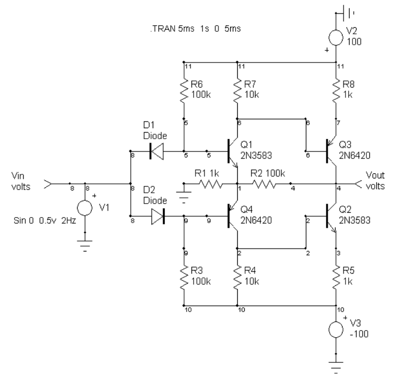 Op-amp voltage booster schematic 200Vpp