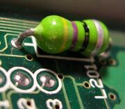 Axial-inductor-on-PCB-board