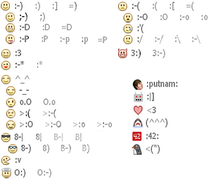 emoticons for chat rooms dot