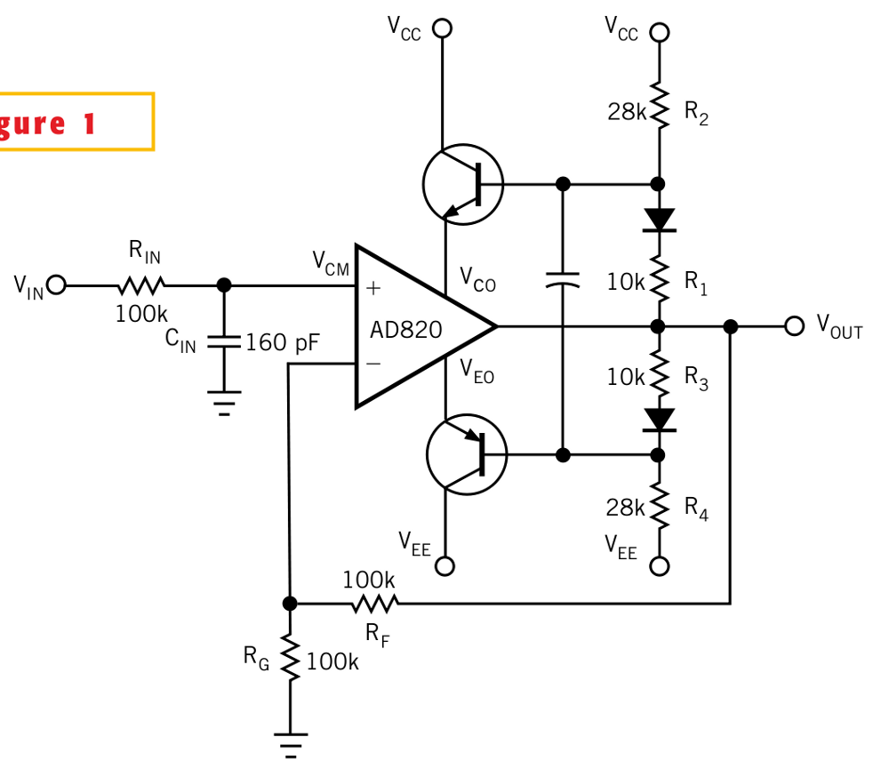Op-amp voltage booster schematic
