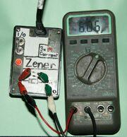 Photo-zener diode tester-with 6V zener diode