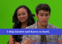 Zacey Kacey can't stop looking at Zander