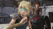 Astrid and Hiccup after seeing Tuffnuts face paint