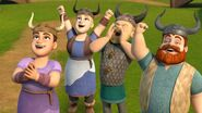 BE - The villagers cheering