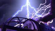 CU - The lightning charging the mechano dragon