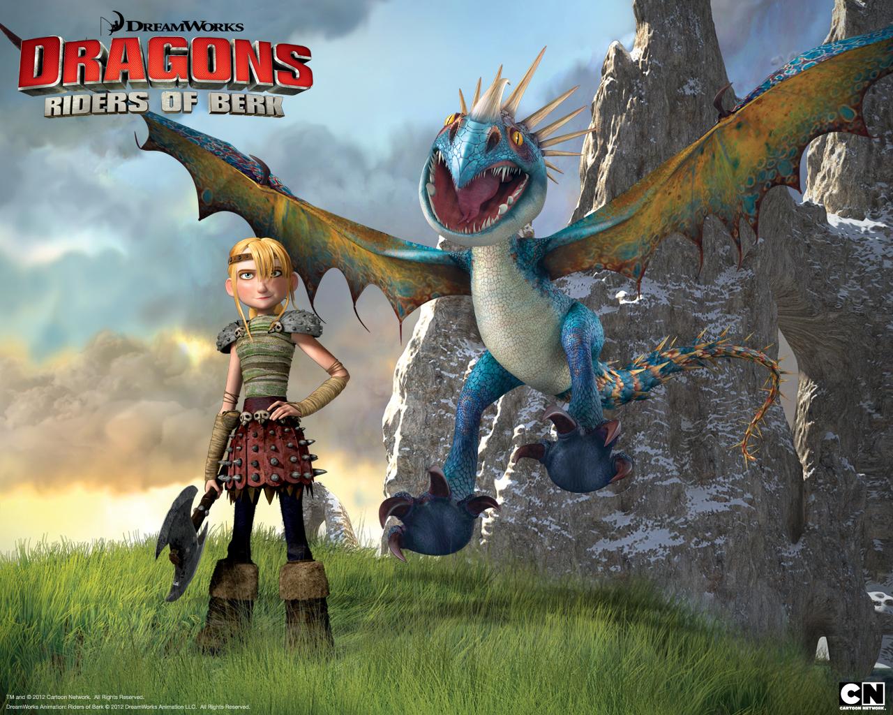 Astrid Stormfly Dreamworks Dragons Riders Of Berk Wallpaper 2