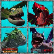 Dragons rtte four dragons from season 5 promo