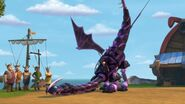 CU - The mehano dragon having done a spike shot