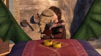 Hiccup and Astrid kissing KODP2 3