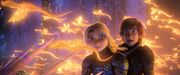 Hiccup and Astrid discover a mysterious new world