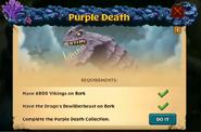 Purple Death Unlock Screen