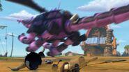 CU - The mechano dragon grabbing the metal that Burple spit out