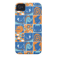 Dragon Patches Pattern iPhone 4 Case-Mate Case