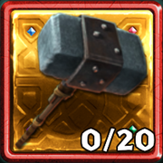 Grim Gold Dragon Hunter Hammer