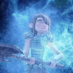 Fearless Astrid Hofferson being paralyzed by the Flightmare.