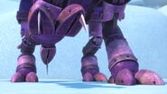 GOH - Spikes coming out of the mechano dragon's foot