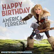 Happy Birthday America Ferrera promo