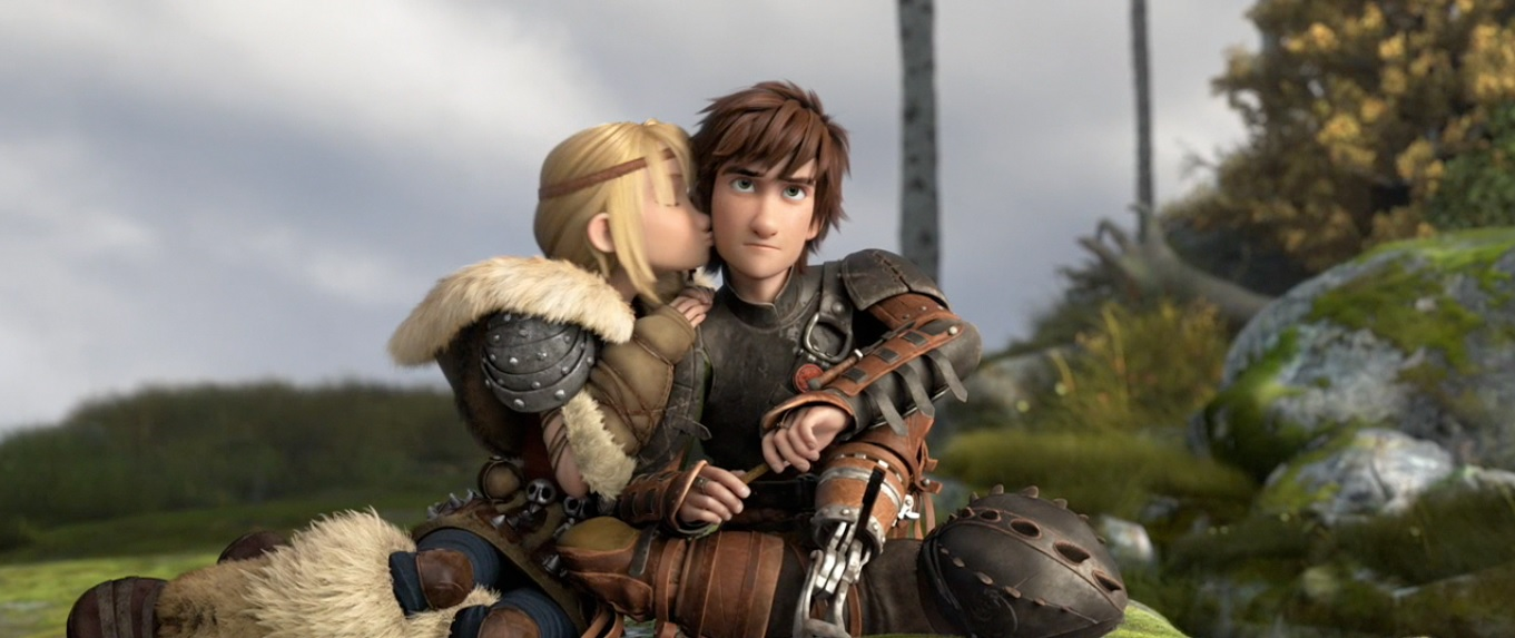How To Train Your Dragon 2 Astrid And Hiccup Kiss Ending