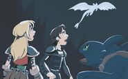 HTTYD storybook - Hiccup, Astrid, Toothless, and the Light Fury