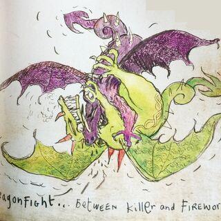 Gusano de Fuego y Asesino peleando