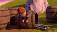 SH - Dak having fallen asleep on top of a barrel