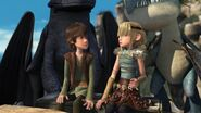 Hiccup and Astrid realizing how close they are to each other
