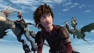 Hiccup giving the gang instructions