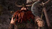 Stoick having caught the axe