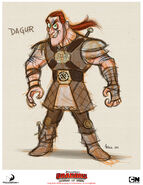 A hefty and muscular Dagur CONCEPT