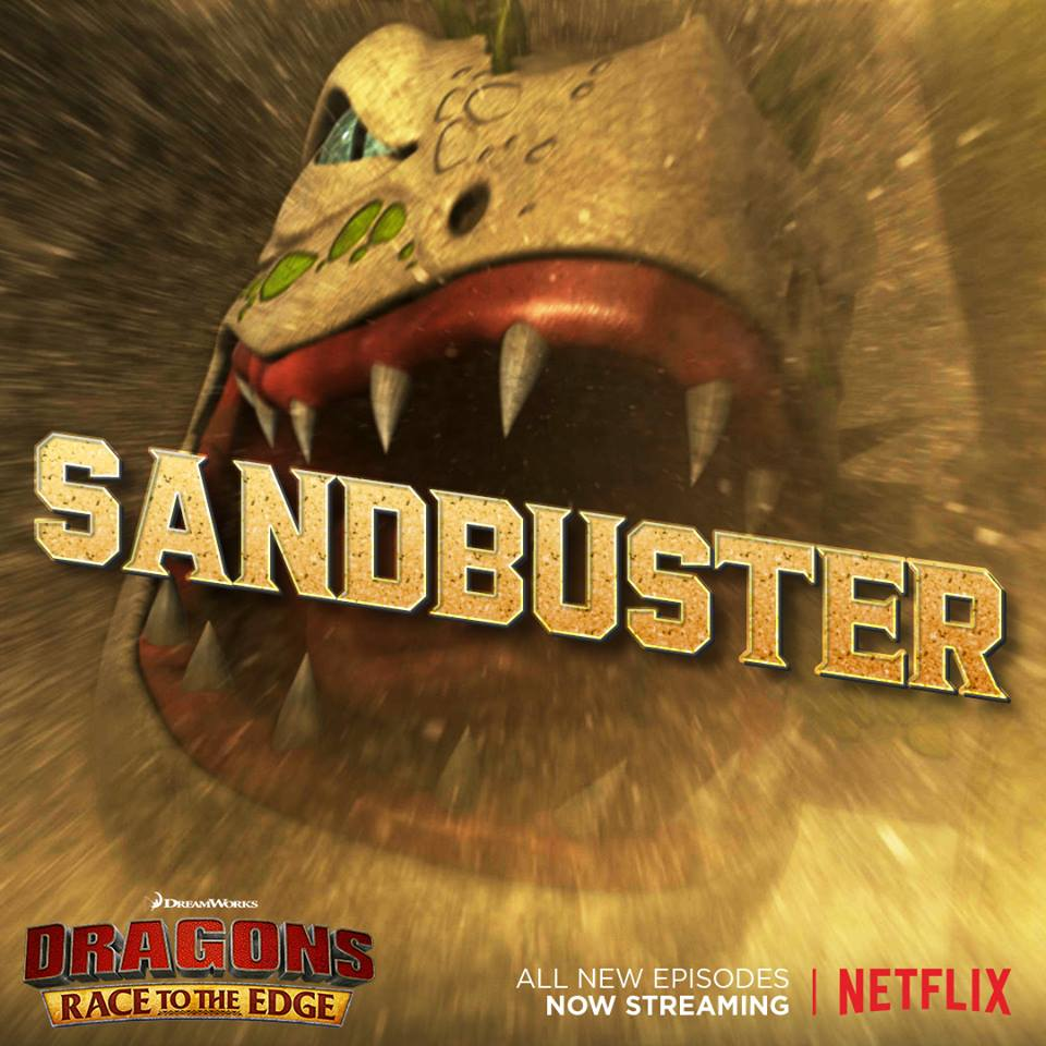 sand buster how to train your dragon