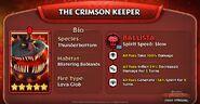 TU Crimson Keeper Stats Ad