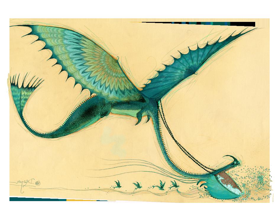 Dragons Bod Scauldron Background Sketch 1