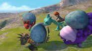 SH - All three eggs caught